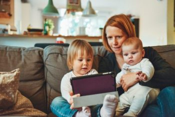 screen time with young children